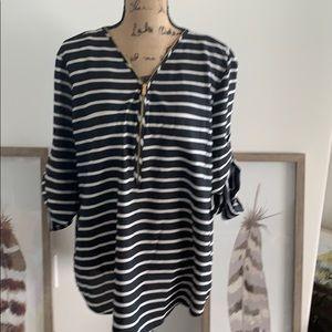 Calvin Klein black and white blouse